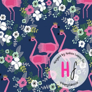 Happy Fabrics -Flamingos Jersey by Andrea Lauren - Seamstress Fabrics