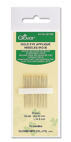 Gold Eye Applique Needles No. 10