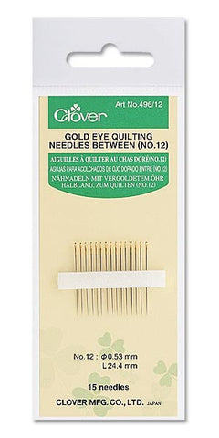 Gold Eye Applique Needles Between No. 9