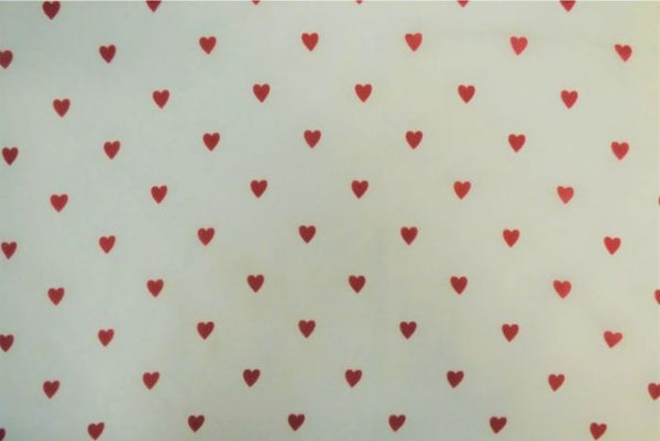 Lovehearts on white