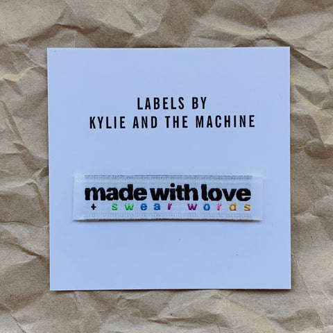 Kylie and the Machine - Made with love and swear words Labels