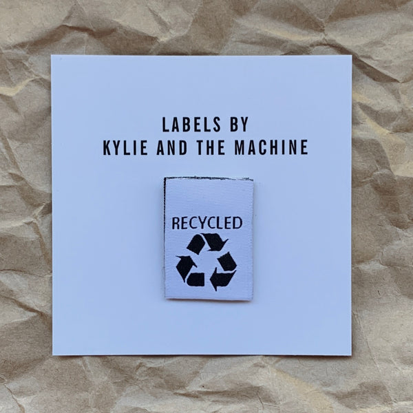 Kylie and the Machine - Recycled Woven label