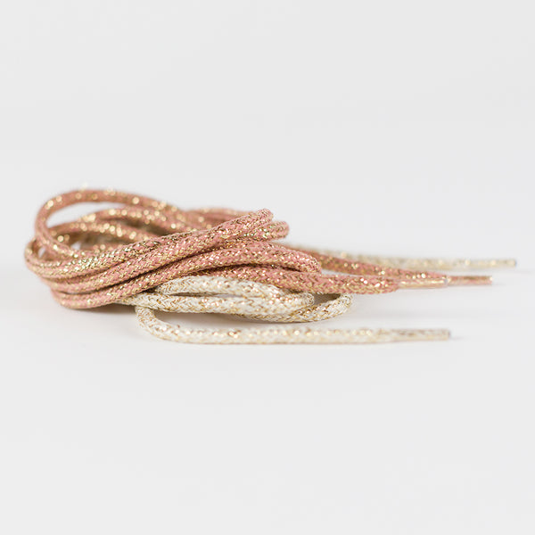 See You at Six - Rose Gold Lurex Shoelaces