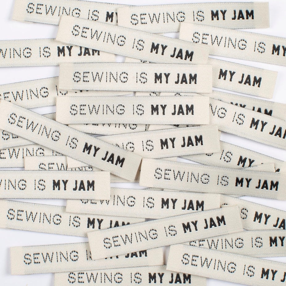 Kylie and the machine - Sewing is my jam label