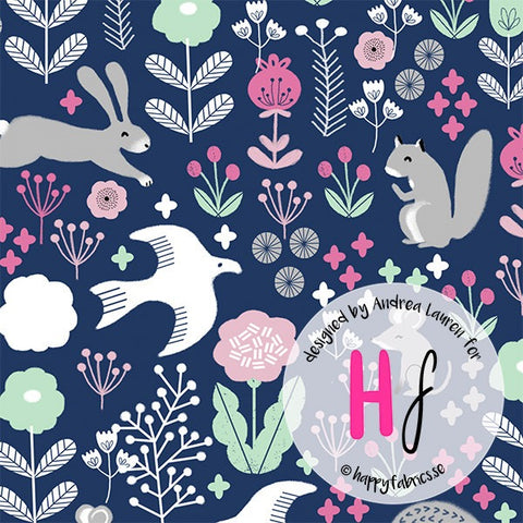 Happy Fabrics - Woodland by Andrea Lauren BY THE METRE