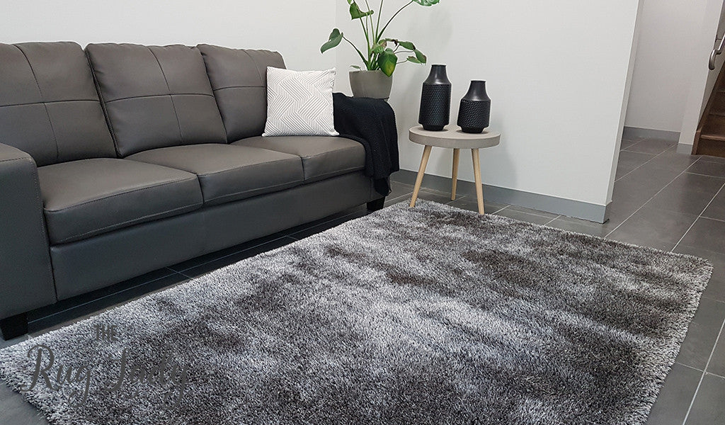 Obbo Brown Black Grey Shaggy Rug