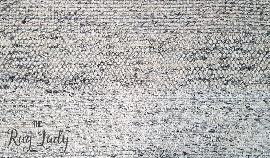 Essence Armani Multi Weave Grey Felted Wool Rug