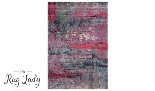 Sapphire Purple Multicoloured Modern Abstract Rug