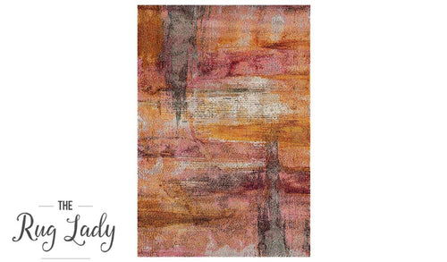 Sapphire Orange Multicoloured Modern Abstract Rug