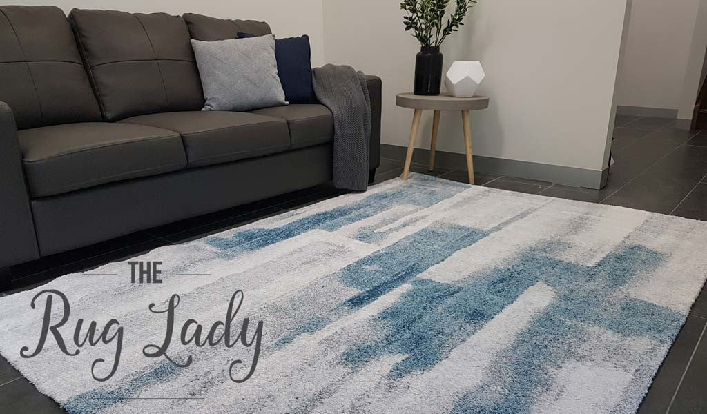 Picture of: Contemporary Dark Blue Grey Abstract Pattern Rug The Rug Lady