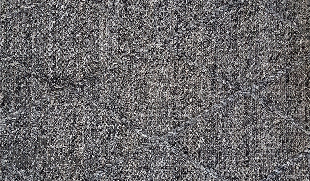 Nordic Diamond Felted Wool Charcoal