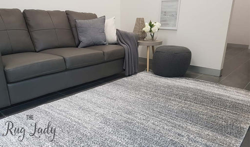 Space Grey Monochrome Herringbone Rug