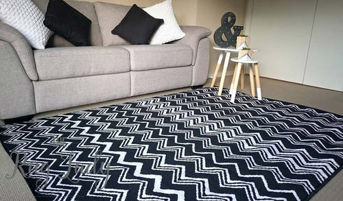 Studious Black and White Zig Zag Chevron