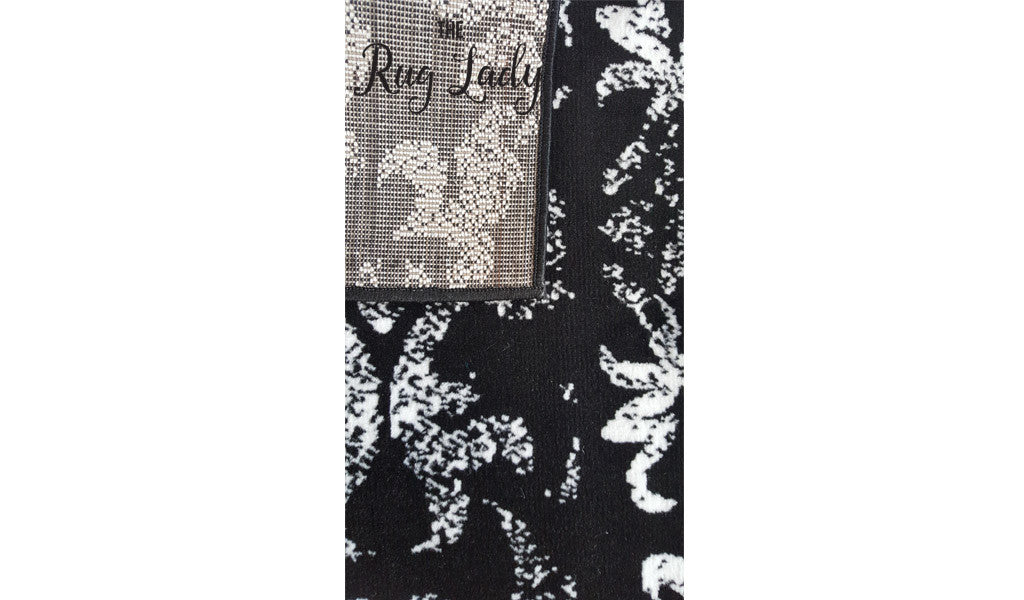 Studious Black White Classic French Damask