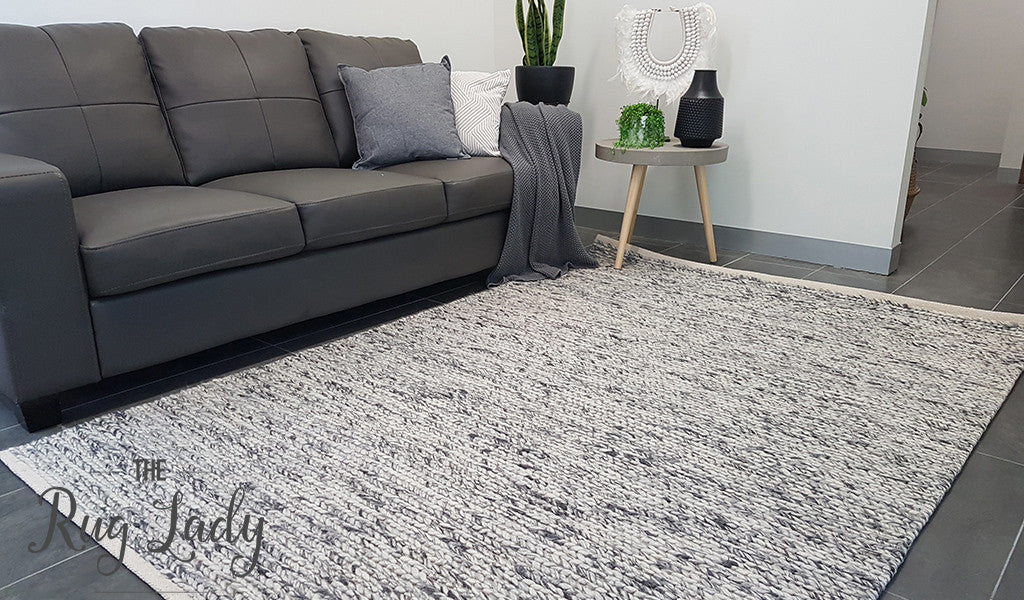 Grey Felted Wool rug