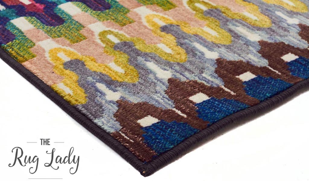Conceptual Multicoloured Tribal Aztec Pattern Rug