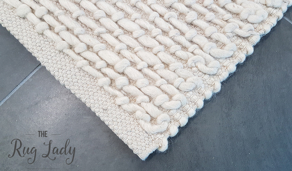 Essence Armani Multi Weave Natural White Felted Wool Rug