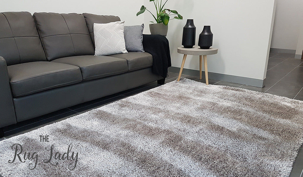 Obbo Brown Beige Grey Shaggy Rug