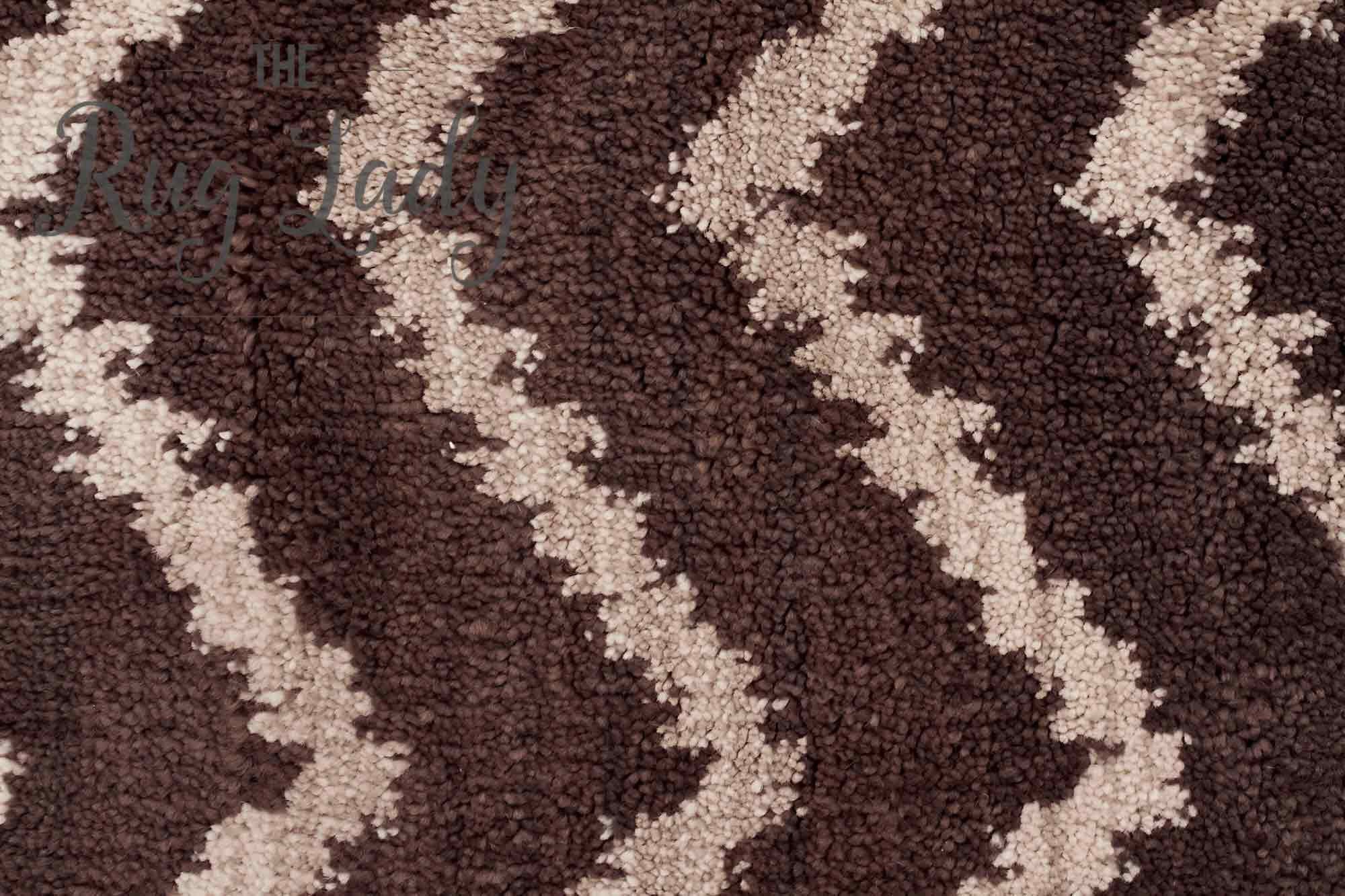 Marrakesh Beige Tribal Zigzag Rug