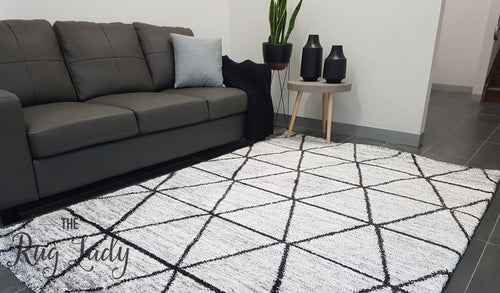 Hunter Plush Grey Tribal Rug