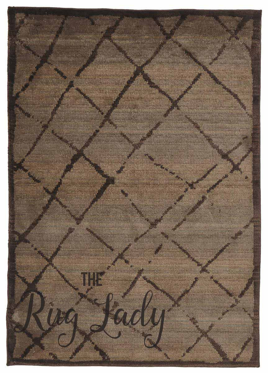 Marrakesh Brown Tribal Diamond Rug