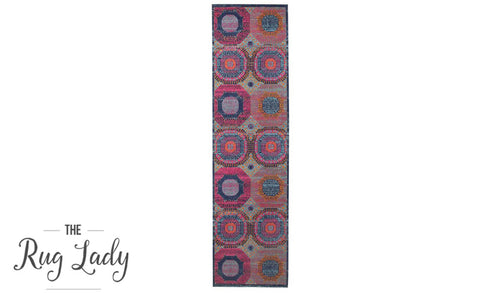 Everlast Multicoloured Stonewashed Traditional Hallway Runner