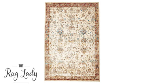 Amelia Ivory All-Over Abrash Transitional Rug