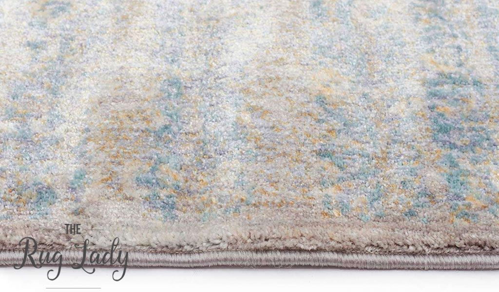 Amelia Blue Mist Abrash Transitional Rug