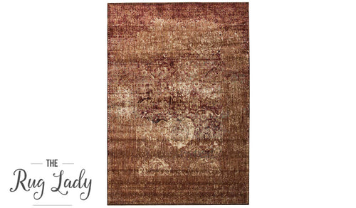 Amelia Copper Brown Abrash Transitional Rug