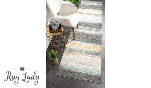 Aspire Multicoloured Stripe Pattern Hallway Runner