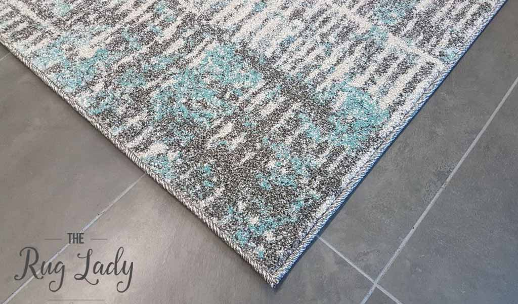 Aspire Blue Abstract Pattern Rug