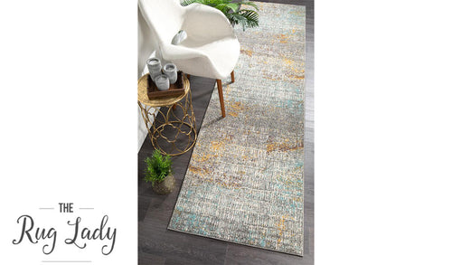 Aspire Multicoloured Abstract Pattern Hallway Runner