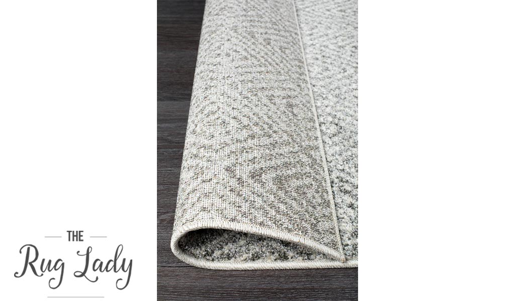 Aspire Grey White Diamond Pattern Hallway Runner