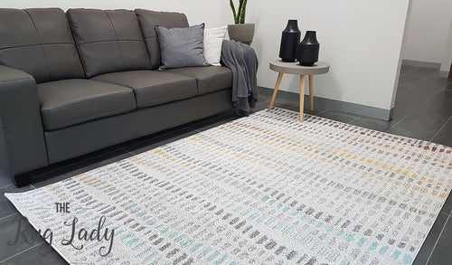 Aspire Multi Colour Pebbles Pattern Rug