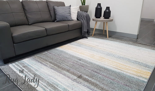 Aspire Multicoloured Stripe Pattern Rug