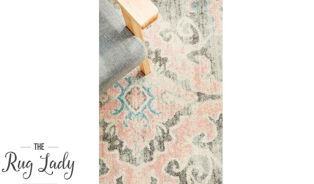 Avalee Light Grey Medallion Vintage Washed Rugs