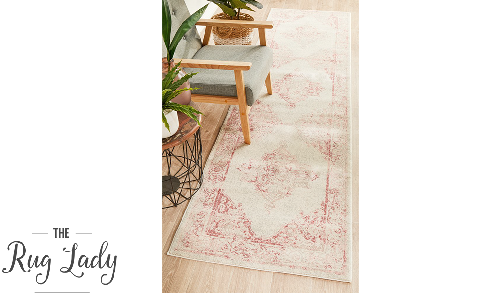 Avalee Pink Medallion Vintage Washed Rugs
