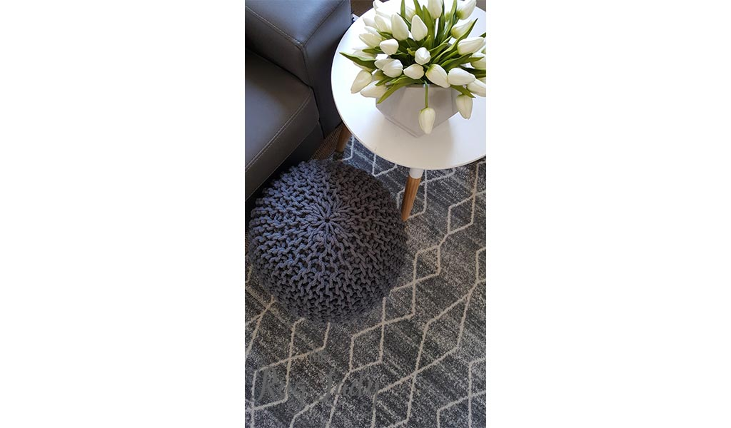 Awaken Silver Diamond Power Loomed Rug