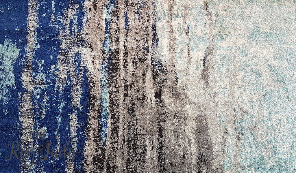 Awaken Blue Canvas Rug