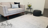 Awaken Grey Diamond Patterned Rug