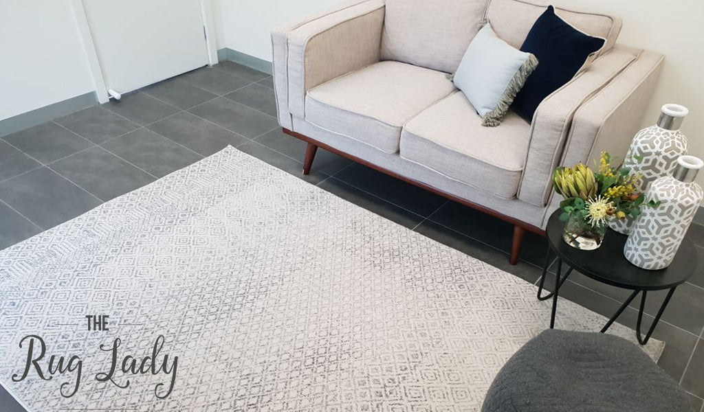 Awaken Grey Patterned Power Loomed Rug