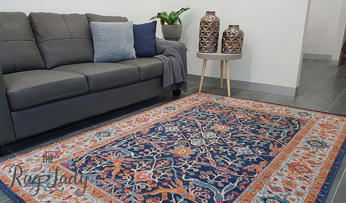 Awaken Multi-coloured Power Loomed Rug