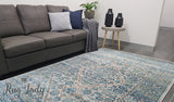 Awaken Silver Blue Diamond Rug