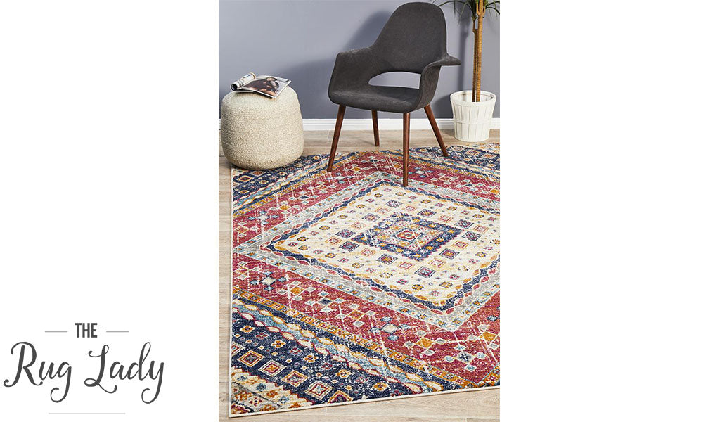 Blake Multi-Coloured Diamond Transitional Rug