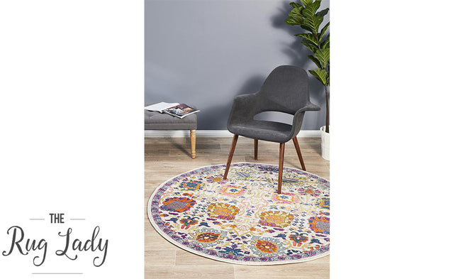 Blake Multi-Coloured Oriental Transitional Round Rug