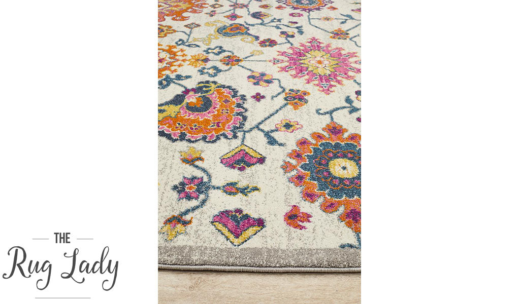 Blake Multi Colour Floral Oriental Transitional Rug