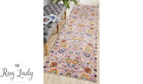 Blake Orange Multi-Coloured Oriental Transitional Hallway Runner