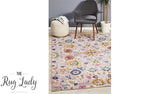 Blake Orange Multi-Coloured Oriental Transitional Rug