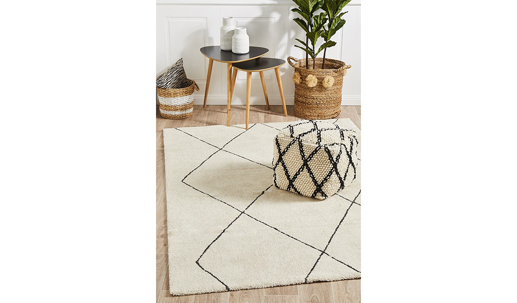 Brydie Ivory Diamond Power Loomed Rug