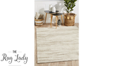 Brydie Natural Abstract Lines Pattern Rug